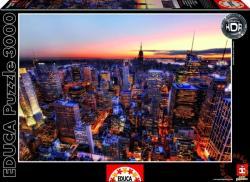 Educa HDR Puzzle - Manhattan 3000 db-os (14824)