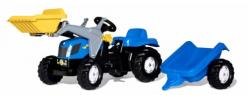 Rolly Toys Tractor excavator cu pedale si remorca copii 023929