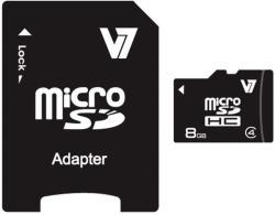 V7 MicroSDHC 8GB Class 4 VAMSDH8GCL4R