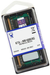 Kingston 8GB DDR3 1600MHZ KTA-MB1600/8G