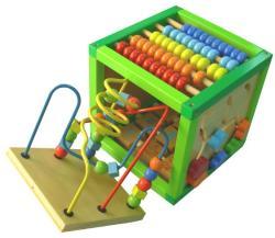 Baby Mix Cub din lemn cu Multiple Activitati (BM52138)