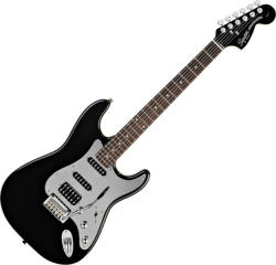 Squier Black and Chrome Standard Stratocaster HSS