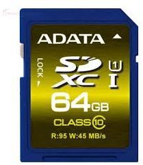 ADATA Premier Pro SDXC 64GB Class 10 UHS-I ASDX64GUI1CL10-R