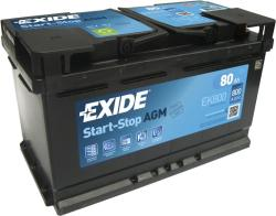 Exide AGM EK800 80Ah 800A jobb+ (EK800)