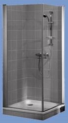 Alföldi Liner fix+nyílóajtós 90x90x195 cm szögletes (UDW9090SKA130P)