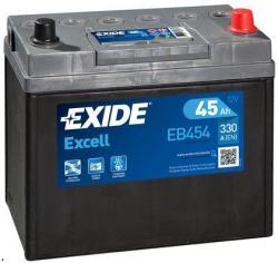 Exide Excell EB454 45Ah 330A jobb+ (EB454)