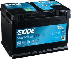 Exide Stop-Start EL700 70Ah 630A jobb+ (EL700)