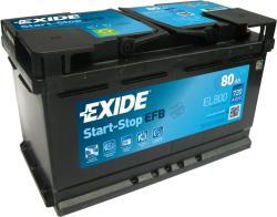Exide Stop-Start EL800 80Ah jobb (EL800)