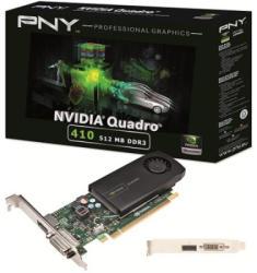 PNY Quadro 410 512MB GDDR3 64bit PCIe (VCQ410-PB)