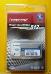 Transcend MemoryStick PRO Duo 512MB (TS512MMSD)