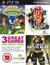 Mastertronic Gamesaid Pack: FUEL + Tomb Raider Underworld + Sega Tennis (PS3)