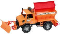 BRUDER Unimog hókotró és sószóró autó (02572)