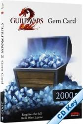 NCsoft Guild Wars 2 2000 Gem Code