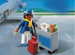 Playmobil Stewardess kiskocsival (4761)