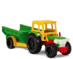 Wader Traktor billenő utánfutóval