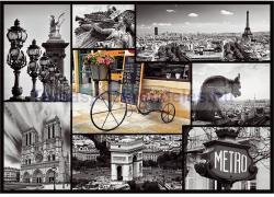 Trefl Párizs nevezetességei kollázs 1000 db-os (10279)
