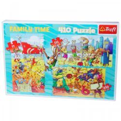 Trefl Family Time: Röplabdázás 3 az 1-ben puzzle 77, 111, 222 db-os (12055)