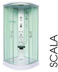 Sanotechnik Scala 90x90x215 cm íves (CL106)