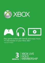 Microsoft Xbox Live Gold 3 Month Membership