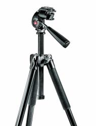 Manfrotto 293 Kit Aluminium Compact Tripod With 3 Way Head with QR (MK293A4-A3RC1)