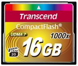 Transcend CompactFlash 16GB 1000x UDMA 7 TS16GCF1000
