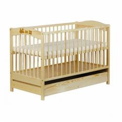 Baby Dreams Patut din lemn cu sertar Family Alb