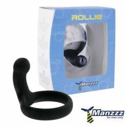 Manzzz Toys Rollie péniszgyűrű perineum izgatóval fekete
