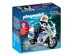 Playmobil Rendőrségi motor villogó fénnyel (5185)