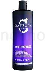 TIGI Catwalk Your Highness hajdúsító sampon (Elevating Shampoo) 750ml