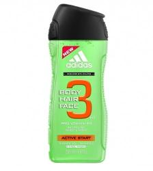 Adidas Hair & Body 3 Active Start Férfi Tusfürdő 400 ml