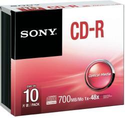 Sony CD-R 700MB 48x - Vékony tok 10db (10CDQ80SS)