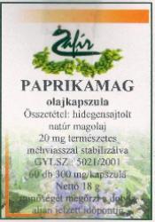 Zafír Paprikamag olajkapszula 60db
