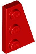 LEGO Lap 3x2 lecsapott jobbos 43722c