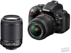 Nikon D5200 + 18-55mm VR + 55-200mm VR (VBA350K003)