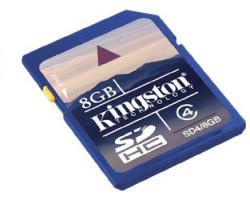 Kingston SDHC 8GB Class 4 SD4/8GB