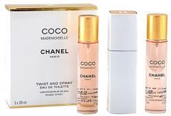 CHANEL Coco Mademoiselle Twist & Spray (Refills) EDT 3x20ml