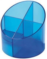 HELIT Economy írószertartó, 4 részes, áttetsző kék (INH6390230)