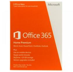 Microsoft Office 365 Home Premium 32/64bit ENG (1 User/5 Device/1 Year) 6GQ-00020