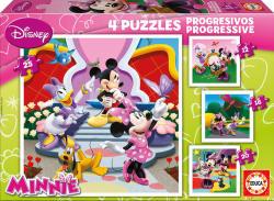 Educa Disney Minnie egér és barátai 4 az 1-ben (15134)
