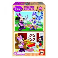 Educa Disney Minnie egér és barátai 2x25 fa puzzle (15279)