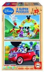 Educa Disney Mickey egér 2x25 db-os fa puzzle (13470)