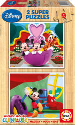 Educa Disney Mickey egér 2x9 db-os fa puzzle (13467)