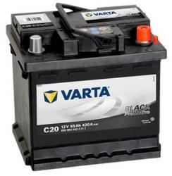 VARTA C20 Promotive Black 55AH 420A 555064042