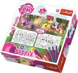 Trefl Color Puzzle - Én kicsi pónim 2 az 1-ben színezhető puzzle (36509)