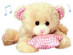 Keel Toys Ursulet muzical cu steluta