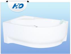 H2O Fortuna 170x100 balos asszimetrikus kád
