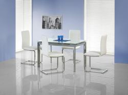 HALMAR Lambert bővíthető, üveg étkezőasztal