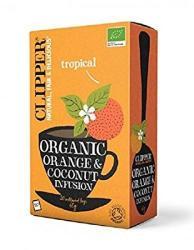 Clipper Bio koffeinmentes narancs-kókusz 20 filter