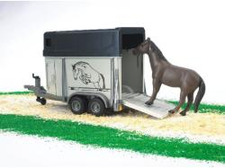 BRUDER Lószállító lóval