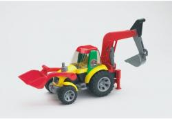 BRUDER ROADMAX traktor tolólappal, markolós